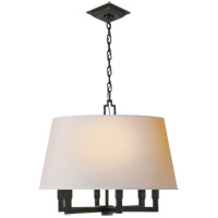 Visual Comfort SL5820BZ-NP E. F. Chapman Square Tube 6 Light 24 inch Bronze Hanging Shade Ceiling Light