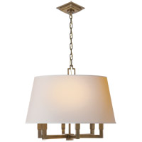 Visual Comfort SL5820HAB-NP E. F. Chapman Square Tube 6 Light 24 inch Hand-Rubbed Antique Brass Hanging Shade Ceiling Light