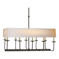 E.F. Chapman Branched 10 Light 36 inch Bronze Linear Pendant Ceiling Light in Long Natural Paper