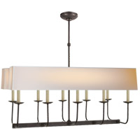 Visual Comfort SL5863BZ-NP2 E. F. Chapman Linear Branched 10 Light 36 inch Bronze Linear Pendant Ceiling Light in Long Natural Paper