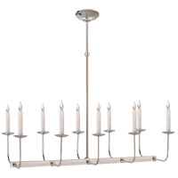 E. F. Chapman Linear Branched 10 Light 36 inch Polished Nickel Linear Pendant Ceiling Light in (None)