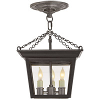 Visual Comfort SL5870BR E. F. Chapman Cornice 3 Light 10 inch Hand Painted Blackened Rust Semi-Flush Ceiling Light