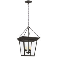 Visual Comfort E.F. Chapman Cornice 4 Light Foyer Pendant in Hand Painted Blackened Rust SL5871BR