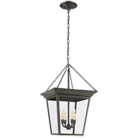 Visual Comfort E.F. Chapman Cornice 4 Light Ceiling Lantern in Bronze with Wax SL5871BZ