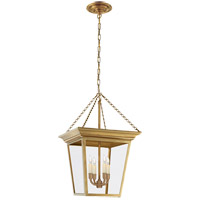 Visual Comfort E.F. Chapman Cornice 4 Light Ceiling Lantern in Hand-Rubbed Antique Brass SL5871HAB