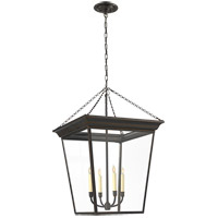 Visual Comfort E.F. Chapman Cornice 4 Light Ceiling Lantern in Bronze with Wax SL5872BZ