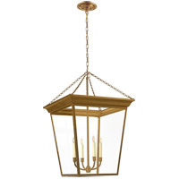 Visual Comfort E.F. Chapman Cornice 4 Light Foyer Pendant in Hand-Rubbed Antique Brass SL5872HAB