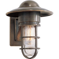 E.F. Chapman Marine 1 Light 11 inch Bronze Outdoor Wall Lantern in Seeded Glass