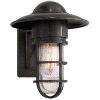 Visual Comfort SLO2001BZ-SG E. F. Chapman Marine 1 Light 11 inch Bronze Outdoor Wall Lantern in Seeded Glass