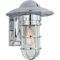 Visual Comfort E.F. Chapman Marine 1 Light Outdoor Wall Lantern in Chrome SLO2001CH-CG