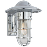 Visual Comfort SLO2001CH-CG E. F. Chapman Marine 1 Light 11 inch Chrome Outdoor Wall Lantern in Clear Glass