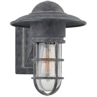 Visual Comfort SLO2001WZ-SG E. F. Chapman Marine 1 Light 11 inch Weathered Zinc Outdoor Wall Lantern in Seeded Glass