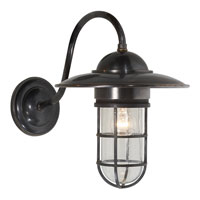 E.F. Chapman Marine 1 Light 16 inch Bronze Outdoor Wall Lantern in Seeded Glass