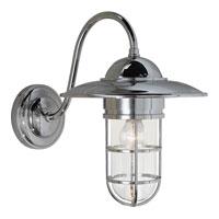 Visual Comfort SLO2003CH-CG E. F. Chapman Marine 1 Light 16 inch Chrome Outdoor Wall Lantern in Clear Glass