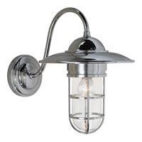 Visual Comfort Studio Sandy Chapman Medium Marine Wall Light in Chrome with Clear Glass SLO2003CH-CG - Open Box