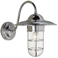 Visual Comfort SLO2003CH-CG E. F. Chapman Marine 1 Light 16 inch Chrome Outdoor Wall Lantern in Clear Glass