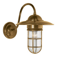 Visual Comfort E.F. Chapman Marine 1 Light Outdoor Wall Lantern in Hand-Rubbed Antique Brass SLO2003HAB-CG