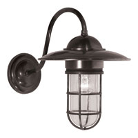 E.F. Chapman Marine 1 Light 16 inch Weathered Zinc Outdoor Wall Lantern in Seeded Glass