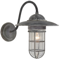 Visual Comfort SLO2003WZ-SG E. F. Chapman Marine 1 Light 16 inch Weathered Zinc Outdoor Wall Lantern in Seeded Glass