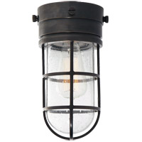 Visual Comfort SLO4000BZ-SG E. F. Chapman Marine 1 Light 6 inch Bronze Outdoor Flush Mount in Seeded Glass