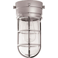 Visual Comfort E.F. Chapman Marine 1 Light Outdoor Flush Mount in Hand-Rubbed Antique Brass SLO4000HAB-CG