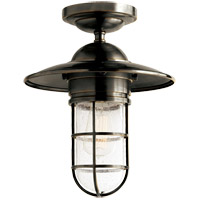 Visual Comfort SLO4002BZ-SG E. F. Chapman Marine 1 Light 12 inch Bronze Outdoor Flush Mount in Seeded Glass