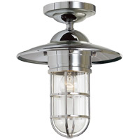 Visual Comfort SLO4002CH-CG E. F. Chapman Marine 1 Light 12 inch Chrome Outdoor Flush Mount in Clear Glass