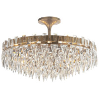 Studio Trillion 10 Light 21 inch Hand-Rubbed Antique Brass Flush Mount Ceiling Light