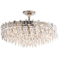 Studio Trillion 10 Light 21 inch Polished Nickel Flush Mount Ceiling Light