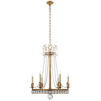 Visual Comfort Studio Regency 6 Light Chandelier in Hand-Rubbed Antique Brass SN5107HAB