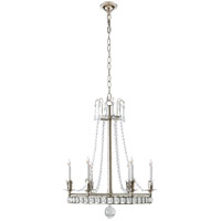 Joe Nye Regency 6 Light 22 inch Polished Nickel Chandelier Ceiling Light in (None)