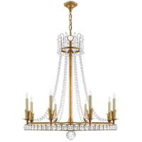 Visual Comfort SN5108HAB Joe Nye Regency 8 Light 31 inch Hand-Rubbed Antique Brass Chandelier Ceiling Light