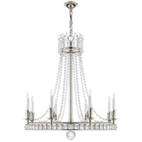 Studio VC Regency 8 Light 31 inch Polished Nickel Chandelier Ceiling Light