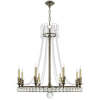 Studio VC Regency 8 Light 31 inch Sheffield Nickel Chandelier Ceiling Light