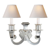 Visual Comfort Studio Savoy 2 Light Decorative Wall Light in Polished Nickel SP2000PN-NP