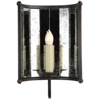 Visual Comfort Studio Kate 1 Light Decorative Wall Light in Aged Iron with Wax SP2005AI