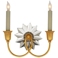 J. Randall Powers Huntington 2 Light 10 inch Hand-Rubbed Antique Brass Decorative Wall Light