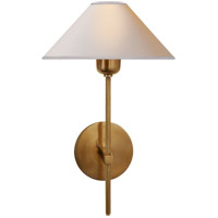 J. Randall Powers Hackney 9 inch Hand-Rubbed Antique Brass Sconce Wall Light, J. Randall Powers, Natural Paper Shade