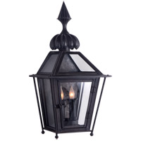 Visual Comfort Studio Audley 2 Light Outdoor Wall Lantern in Blackened Copper SP2070BC