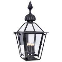 J. Randall Powers Audley 4 Light 30 inch Blackened Copper Outdoor Wall Lantern