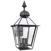 Visual Comfort Studio Audley 4 Light Outdoor Wall Lantern in Blackened Copper SP2077BC