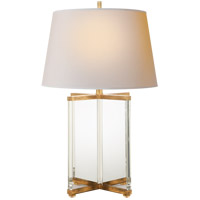 Visual Comfort SP3005CG/GI-NP J. Randall Powers Cameron 28 inch 150 watt Crystal and Gilded Iron Table Lamp Portable Light