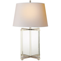 Visual Comfort SP3005CG-NP J. Randall Powers Cameron 28 inch 150 watt Crystal with Polished Silver Decorative Table Lamp Portable Light