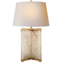 Visual Comfort Studio Cameron 1 Light Decorative Table Lamp in Natural Quartz Stone SP3005Q-NP