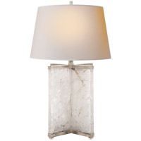 Visual Comfort SP3005Q/BSL-NP J. Randall Powers Cameron 28 inch 150 watt Natural Quartz and Burnished Silver Leaf Table Lamp Portable Light in Natural Quartz Stone photo thumbnail