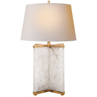 J. Randall Powers Cameron 28 inch 150 watt Natural Quartz Stone Decorative Table Lamp Portable Light