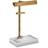 J. Randall Powers Mcclean 20 inch 40 watt Hand-Rubbed Antique Brass Easel Light Portable Light, J. Randall Powers