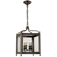 Visual Comfort Studio Greggory 4 Light Ceiling Lantern in Bronze with Wax SP5001BZ