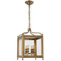 Visual Comfort Studio Greggory 4 Light Ceiling Lantern in Hand-Rubbed Antique Brass SP5001HAB