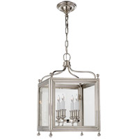 Visual Comfort Studio Greggory 4 Light Ceiling Lantern in Polished Nickel SP5001PN